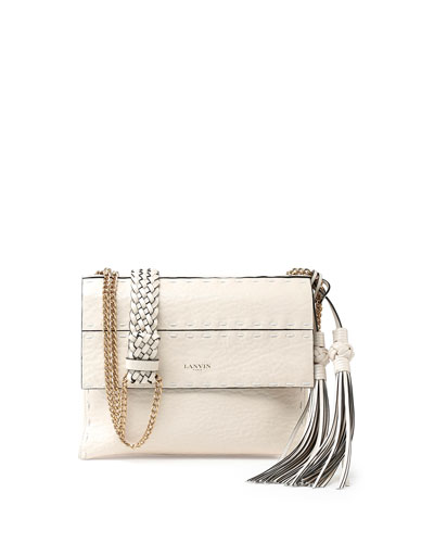 Nomad Small Crossbody Bag w/Tassels, White