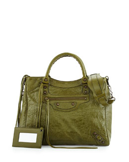 Classic City Glossy Leather Bag