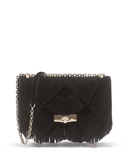 Prismick Mini Fringe Shoulder Bag, Black