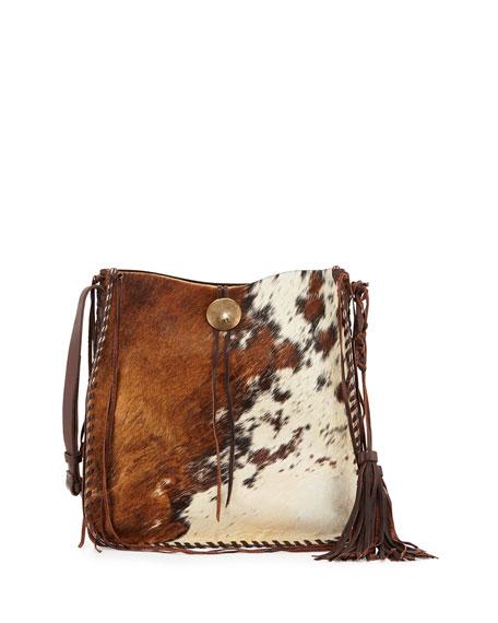 5334b9820655 Ralph Lauren Artisinal Calf Hair Tassel Hobo Bag