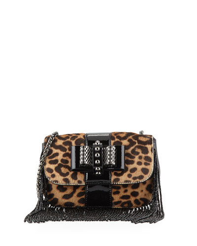 Sweet Charity Mini Fringe Crossbody Bag, Leopard