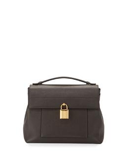 Leonica Padlock Medium Satchel Bag