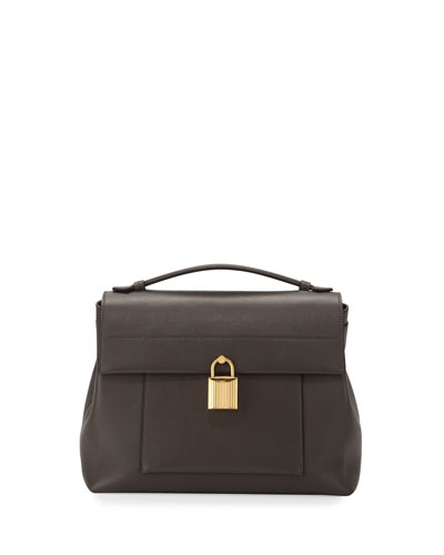 Leonica Padlock Medium Satchel Bag