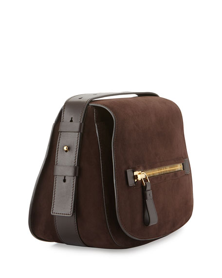 Jennifer Medium Suede Saddle Bag