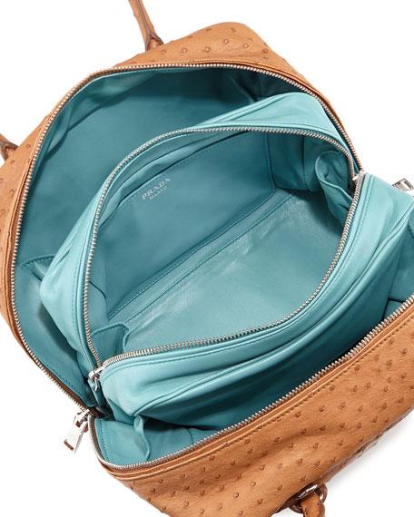 912a37261fed Prada Ostrich Medium Inside Bag, Tan