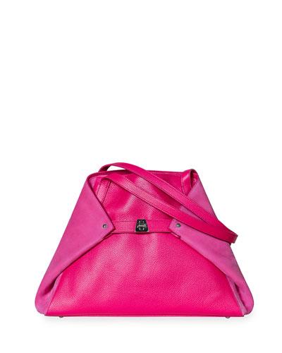 Small Ai Soft Shoulder Bag, Rose