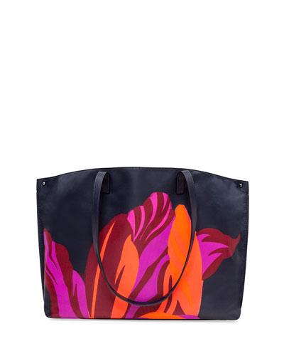 Ai Medium Printed Fabric Shoulder Bag