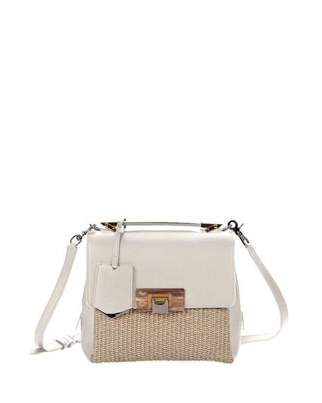 Le Dix Raffia Soft Mini Satchel Bag