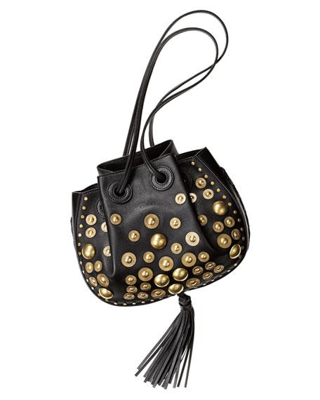 550734ecdc88 Chloe Inez Small Leather Drawstring Bag