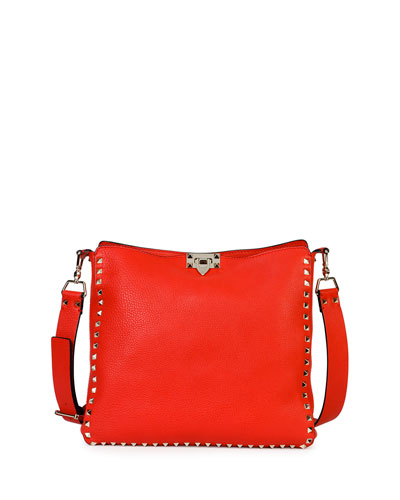Rockstud Small Vitello Hobo Bag