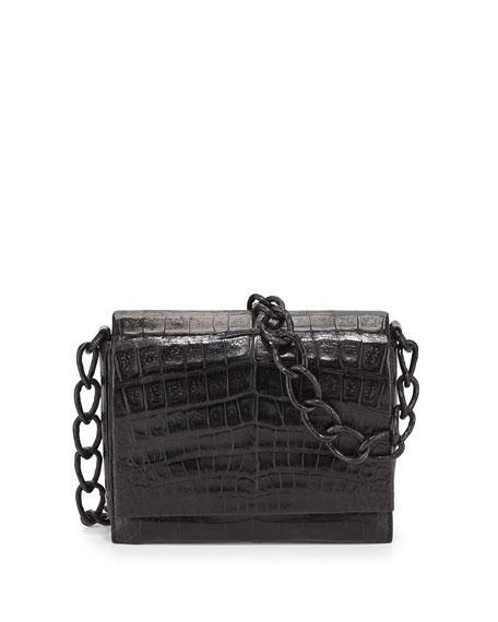 Small Crocodile Chain Crossbody Bag
