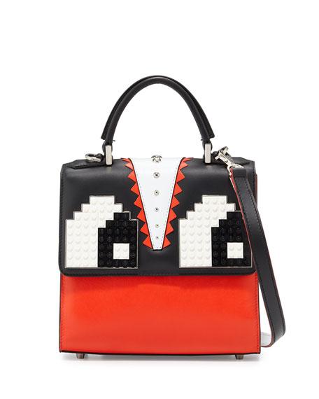 Alex Eyes Mini Shoulder Bag, Red/Black/White