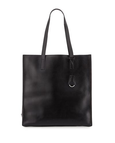 prada galleria bag black/light blue
