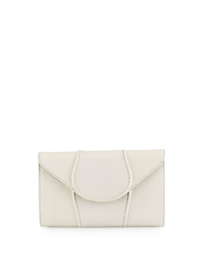 Babo Watersnake Envelope Clutch Bag, Opal