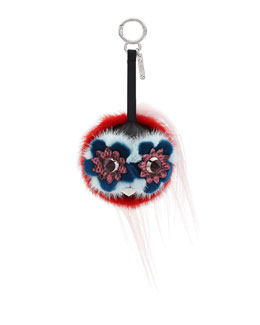 Monster Fur Charm for Handbag, Multi