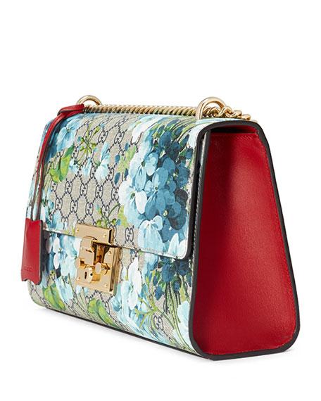 671ecd93b3c Gucci Padlock GG Blooms Shoulder Bag