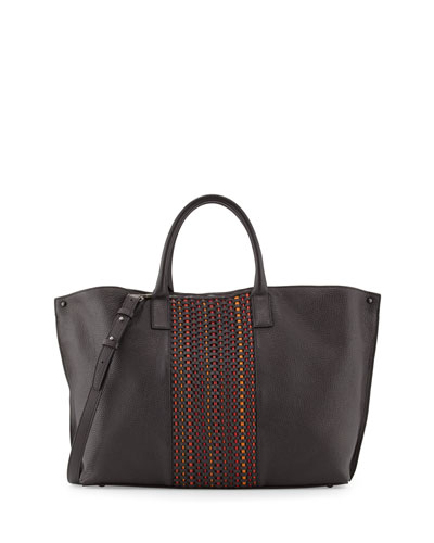 Ai Medium Woven Top Handle Bag, Multi
