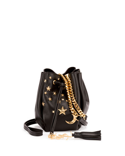 Monogram Small Star Studded Bucket Bag, Black (Noir)