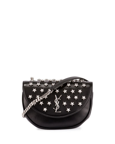 Monogram Star-Studded Hobo Bag, Black (Noir)