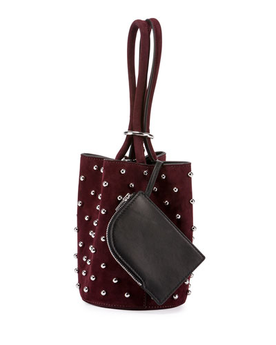 Palladium Mini Leather Bucket Bag, Beet