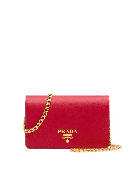 c7af94144feb Prada Small Saffiano Chain Shoulder Bag