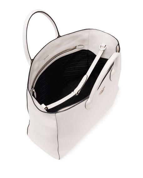 prada city calfskin tote bag with studded strap
