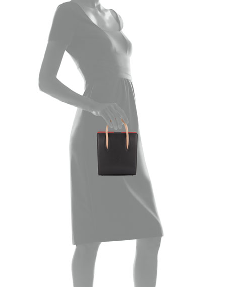 ae06ab43d60 Paloma Nano Calf Tote Bag Black/Brown