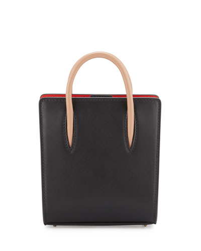 Paloma Nano Calf Tote Bag, Black/Brown