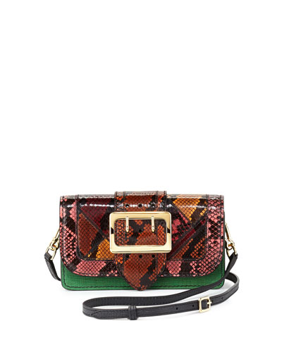 Cornwood One-of-a-Kind Snakeskin & Leather Patchwork Bag