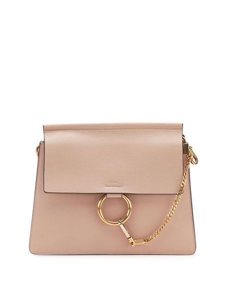 Faye Medium Leather Shoulder Bag