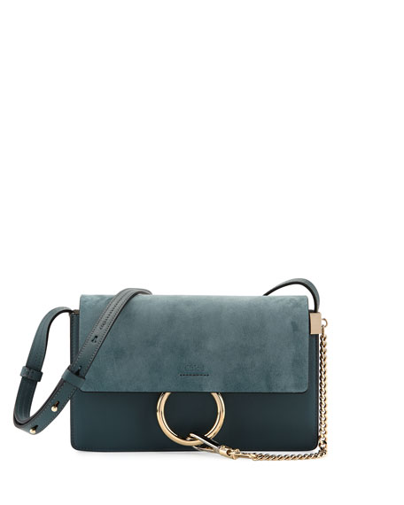 c79ba127 Faye Small Suede Shoulder Bag Cloudy Blue