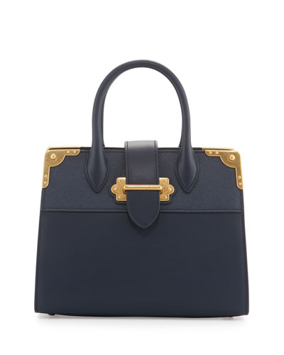 Leather Trunk Tote Bag, Baltico