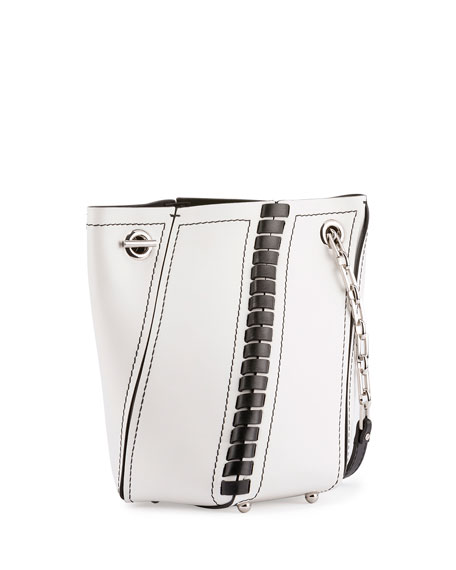 Hex Crossbody Leather Bucket Bag