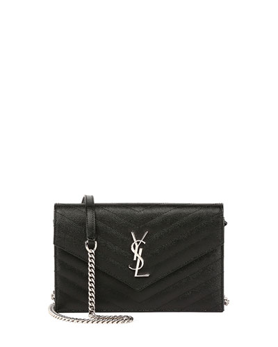 Monogram YSL Wallet on a Chain  Black