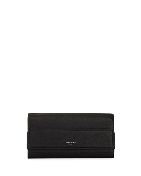 Givenchy Horizon Continental Flap Wallet, Black
