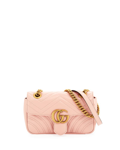 GG Marmont 2.0 Mini Quilted Leather Crossbody Bag, White
