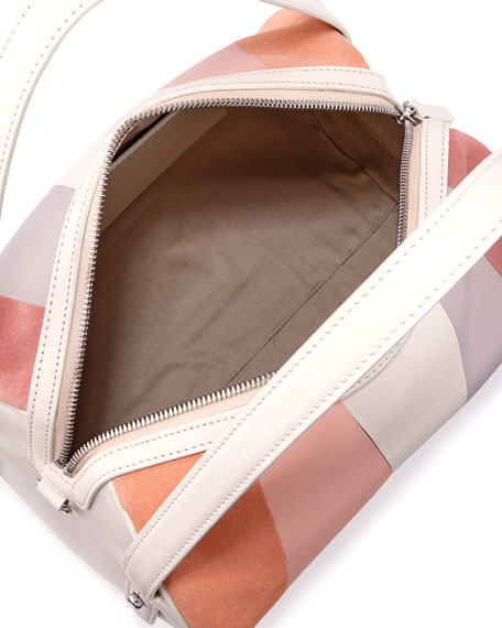 Perry Patchwork Duffel Shoulder Bag, Neutral Pattern