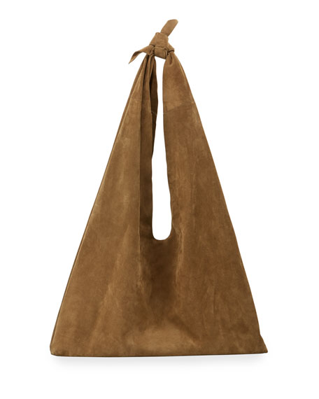 Image 1 of 1: Bindle Bag in Suede