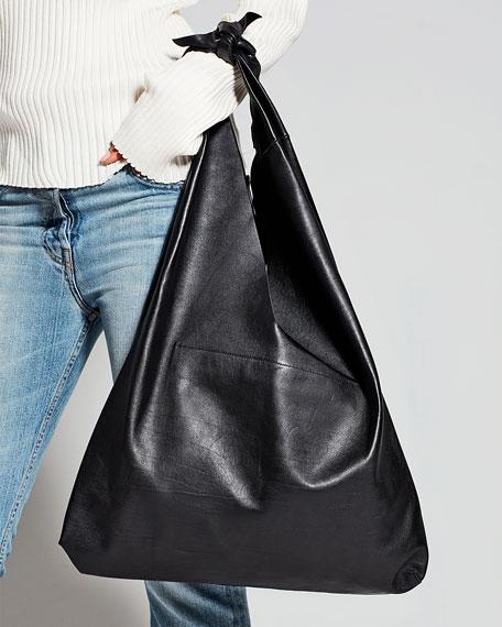 Bindle Calf Leather Hobo Bag