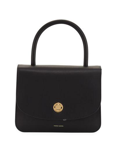 Metropolitan Leather Top-Handle Bag, Black