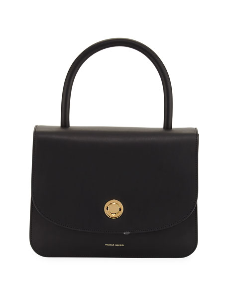 Mansur Gavriel Metropolitan Leather Top-Handle Bag, Black