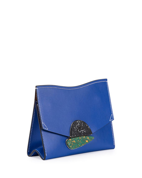 New Small Clutch Smooth Leather Bag