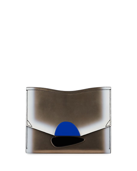 New Small Clutch Metallic Leather Bag