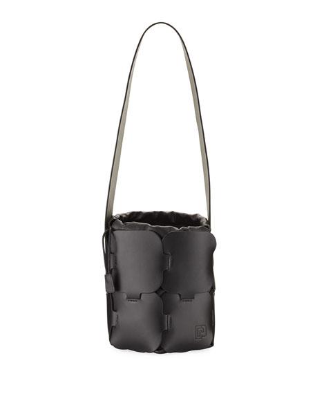 Paco Rabanne 16#01 Mini Brick-Pattern Leather Bucket Bag,