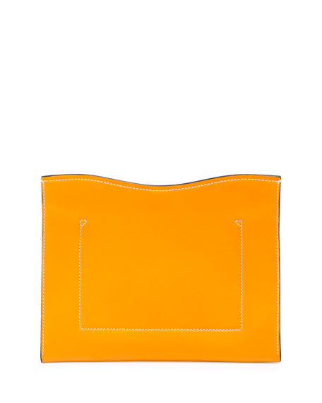 New Medium Leather Clutch Bag