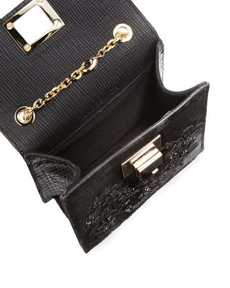 Calf Hair Chain Shoulder Bag