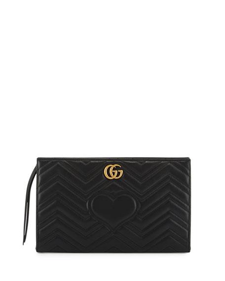 314823f16c9620 Gucci GG Marmont Matelassé Clutch Bag, Black
