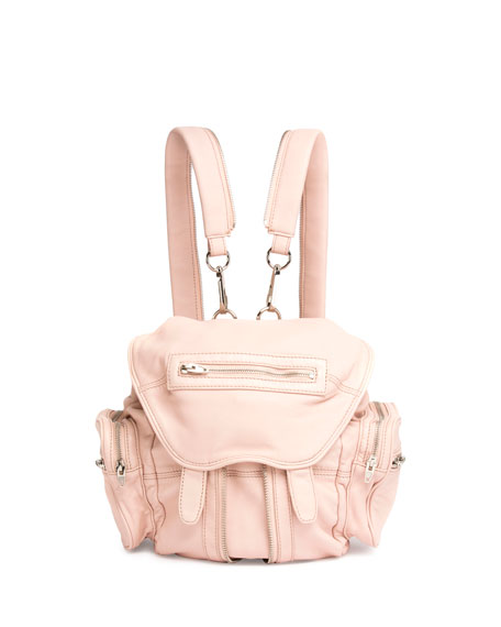 Mini Marti Leather Backpack, Pale Pink