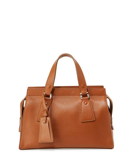 7a26842045 Giorgio Armani Vitello Leather Satchel Bag