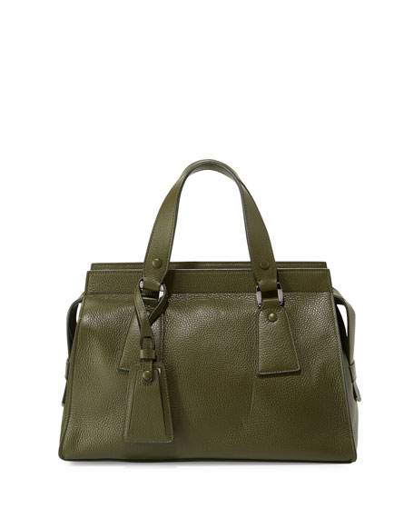 7baa6c5f2f1 Giorgio Armani Vitello Leather Satchel Bag